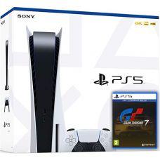 Sony Playstation 5 White 825Gb + Gran Turismo 7 (русская версия)