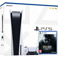 Sony PlayStation 5 White 825Gb + Resident Evil: Village (русская версия)