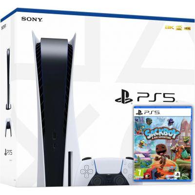 Sony PlayStation 5 White 825Gb + Sackboy: A Big Adventure (русская версия)