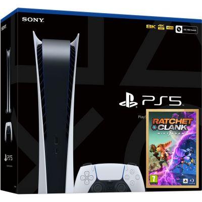 Sony PlayStation 5 White 825Gb Digital Edition + Ratchet & Clank: Rift Apart. Сквозь миры (русская версия)