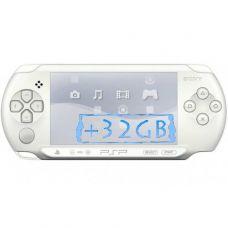 Sony PSP E1000 Street Ice White + Карта Памяти 32Gb + Чехол + Пленка + USB кабель + Игры