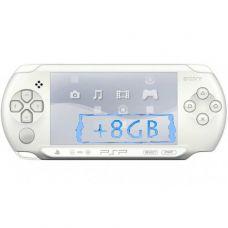 Sony PSP E1000 Street Ice White + Карта Памяти 8Gb + Чехол + Пленка + USB кабель + Игры