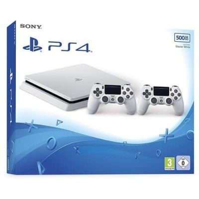 Sony Playstation 4 Slim 500Gb White + DualShock 4 (Version 2) (white)