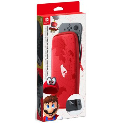 Чехол + защитная пленка Carrying Case для Nintendo Switch (Super Mario Odyssey)