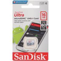 Карта памяти SanDisk Ultra microSDHC UHS-I 16GB (SDSQUNS-016G-GN3MN)