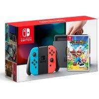 Nintendo Switch Neon Blue-Red + Mario + Rabbids Kingdom Battle (русская версия)