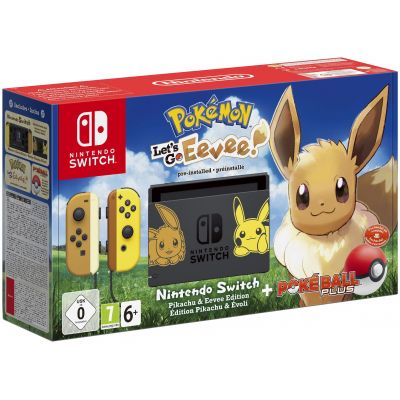 Nintendo Switch Pikachu & Eevee Limited Edition + Poké Ball Plus + Игра Pokémon: Let's Go, Eevee!