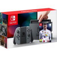 Nintendo Switch Gray + Игра FIFA 18 (русская версия)