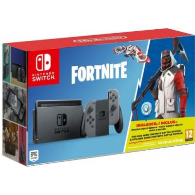 Nintendo Switch Gray + Игра Fortnite (русская версия)