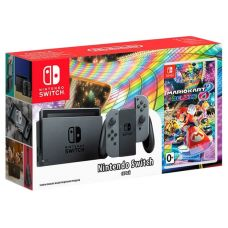 Nintendo Switch Gray + Игра Mario Kart 8 Deluxe (русская версия)