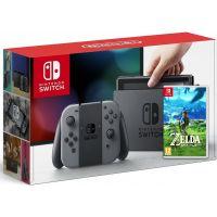 Nintendo Switch Gray + Игра The Legend of Zelda: Breath of the Wild (русская версия)