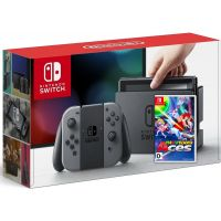 Nintendo Switch Gray + Игра Mario Tennis Aces (русская версия)