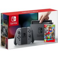 Nintendo Switch Gray + Игра Super Mario Odyssey (русская версия)