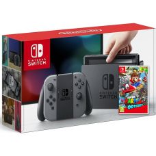 Nintendo Switch Gray + Игра Super Mario Odyssey (русская версия)