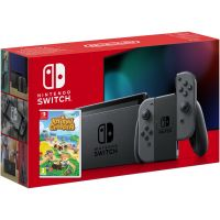 Nintendo Switch Gray (Upgraded version) + Игра Animal Crossing: New Horizons (русская версия)