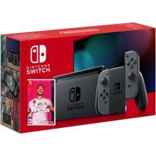Nintendo Switch Gray (Upgraded version) + Игра FIFA 20 Legacy Edition (русская версия)