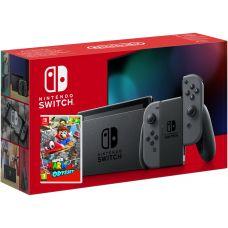 Nintendo Switch Gray (Upgraded version) + Игра Super Mario Odyssey (русская версия)