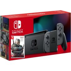 Nintendo Switch Gray (Upgraded version) + Игра The Witcher 3: Wild Hunt Complete Edition