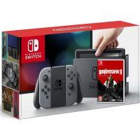 Nintendo Switch Gray + Игра Wolfenstein II: The New Colossus (русская версия)