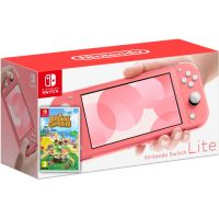 Nintendo Switch Lite Coral + Игра Animal Crossing: New Horizons (русская версия)