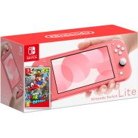 Nintendo Switch Lite Coral + Игра Super Mario Odyssey (русская версия)