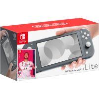 Nintendo Switch Lite Gray + Игра FIFA 20 Legacy Edition (русская версия)