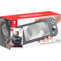 Nintendo Switch Lite Gray + Игра The Witcher 3: Wild Hunt Complete Edition (русская версия)