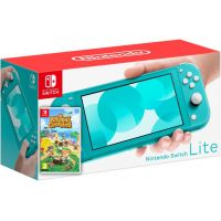 Nintendo Switch Lite Turquoise + Игра Animal Crossing: New Horizons (русская версия)