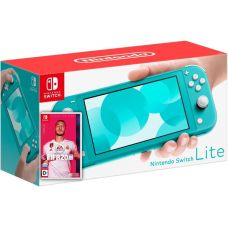 Nintendo Switch Lite Turquoise + Игра FIFA 20 Legacy Edition (русская версия)
