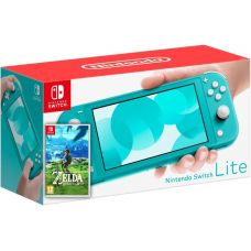 Nintendo Switch Lite Turquoise + Игра The Legend of Zelda: Breath of the Wild (русская версия)
