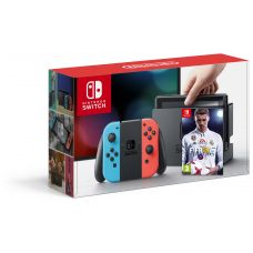 Nintendo Switch Neon Blue-Red + Игра FIFA 18 (русская версия)