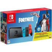 Nintendo Switch Neon Blue-Red + Игра Fortnite (русская версия)
