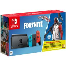Nintendo Switch Neon Blue-Red + Игра Fortnite (русская версия)