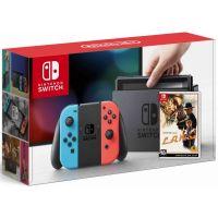 Nintendo Switch Neon Blue-Red + Игра L.A. Noire (русская версия)