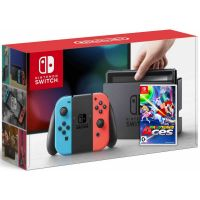 Nintendo Switch Neon Blue-Red + Игра Mario Tennis Aces (русская версия)