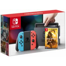 Nintendo Switch Neon Blue-Red + Игра Mortal Kombat 11 (русская версия)