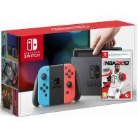 Nintendo Switch Neon Blue-Red + Игра NBA 2K18 (русская версия)