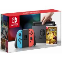 Nintendo Switch Neon Blue-Red + Игра Rayman Legends: Definitive Edition
