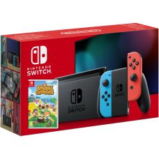 Nintendo Switch Neon Blue-Red (Upgraded version) + Игра Animal Crossing: New Horizons (русская версия)