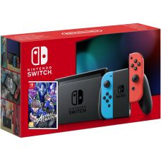 Nintendo Switch Neon Blue-Red (Upgraded version) + Игра Astral Chain (русская версия)