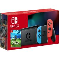 Nintendo Switch Neon Blue-Red (Upgraded version) + Игра The Legend of Zelda: Breath of the Wild (русская версия)