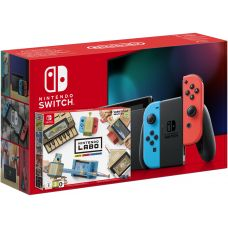 Nintendo Switch Neon Blue-Red (Upgraded version) + Nintendo Labo: Variety Kit