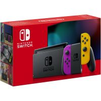 Nintendo Switch Neon Purple-Orange (Upgraded version)