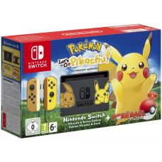 Nintendo Switch Pikachu & Eevee Limited Edition + Poké Ball Plus + Игра Pokémon: Let's Go, Pikachu!