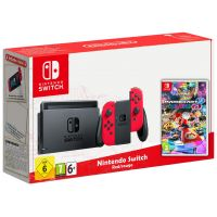 Nintendo Switch Red-Rouge + Игра Mario Kart 8 Deluxe (русская версия)