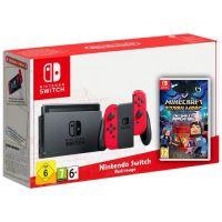Nintendo Switch Red-Rouge + Игра Minecraft