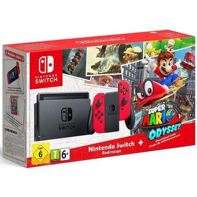 Nintendo Switch Super Mario Odyssey Edition + Игра Super Mario Odyssey (русская версия)