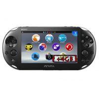 Sony PS Vita Slim 2000 Crystal Black Wi-Fi + Карта Памяти 4Gb + USB кабель + Мягкий Чехол