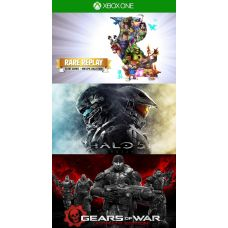 Rare Replay + Halo 5 + Gears of war: Ultimate Edition (русская версия) (ваучер на скачивание) (Xbox One)