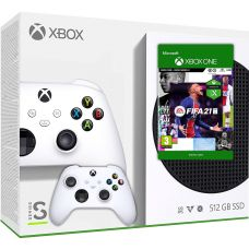 Microsoft Xbox Series S 512Gb + FIFA 21 (русская версия) + доп. Wireless Controller with Bluetooth (White)